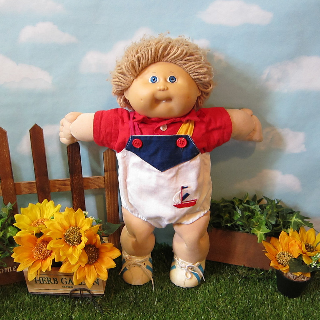 Cabbage Patch Kids Doll - Boy, Light Brown Hair, Blue Eyes, Tooth