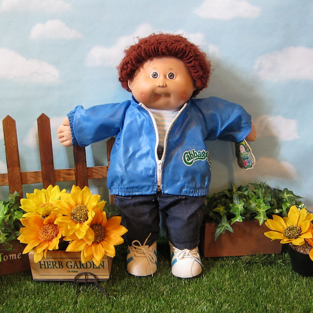 Cabbage Patch Kids Doll - Boy, Golden Brown Hair, Brown Eyes, Tooth - French Tag