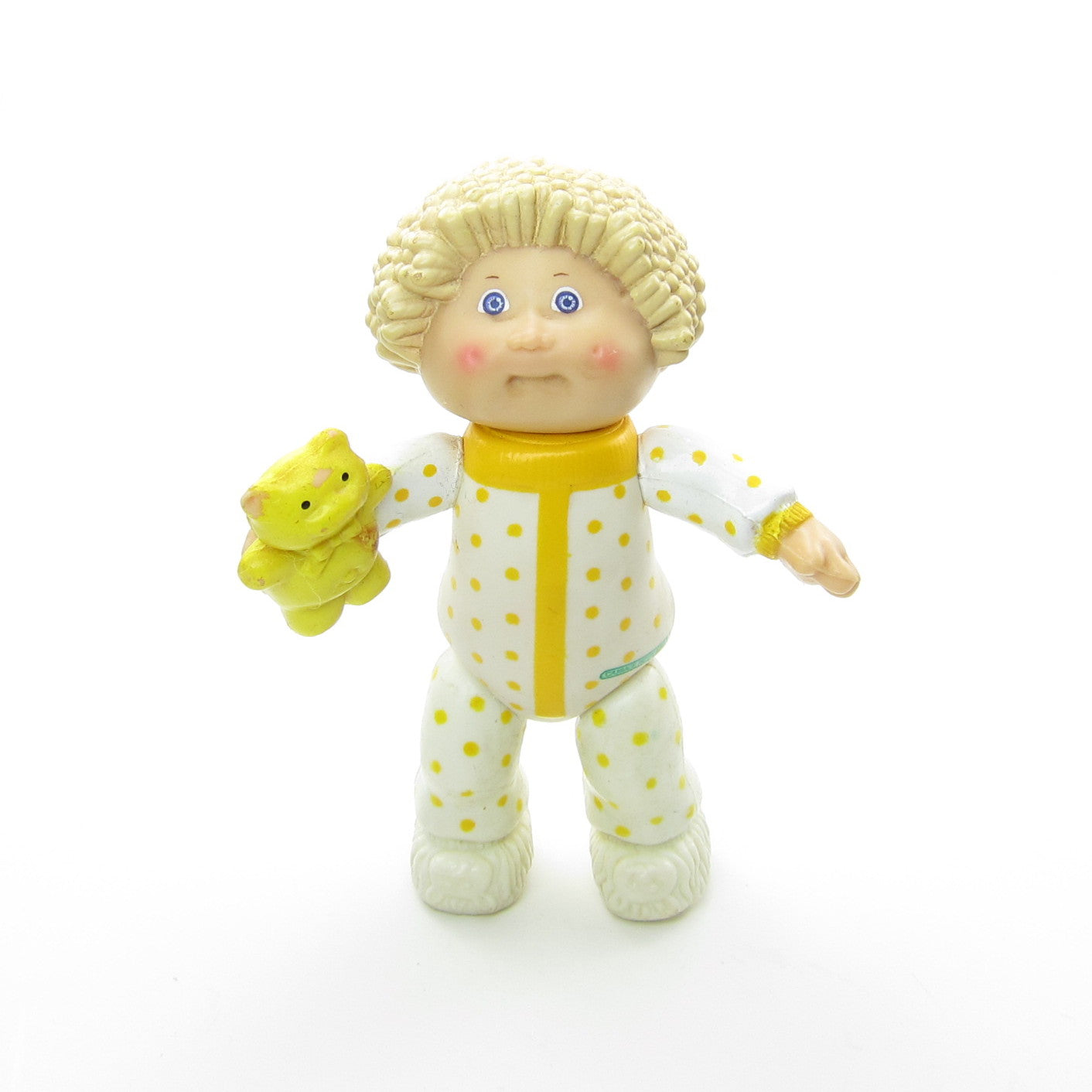 Cabbage Patch Kids boy in pajamas with teddy bear poseable figure