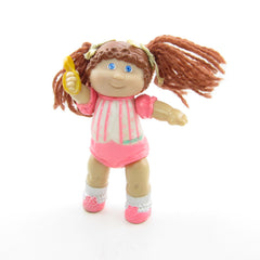 Cabbage Patch Kids poseable girl with brown yarn hair