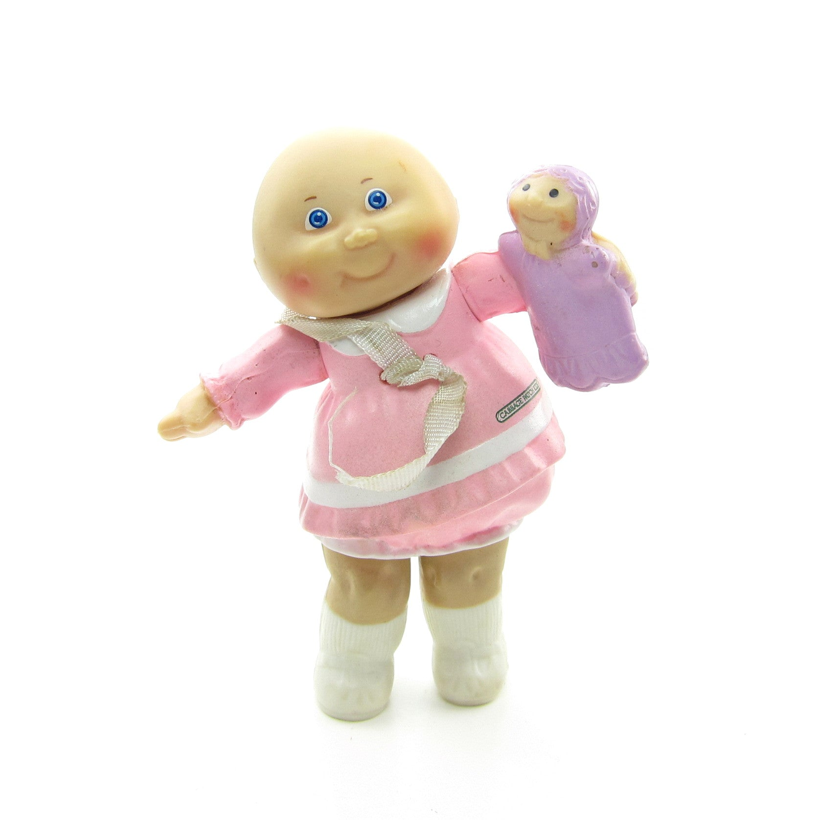 Cabbage Patch Kids Preemie girl in pink dress poseable figure
