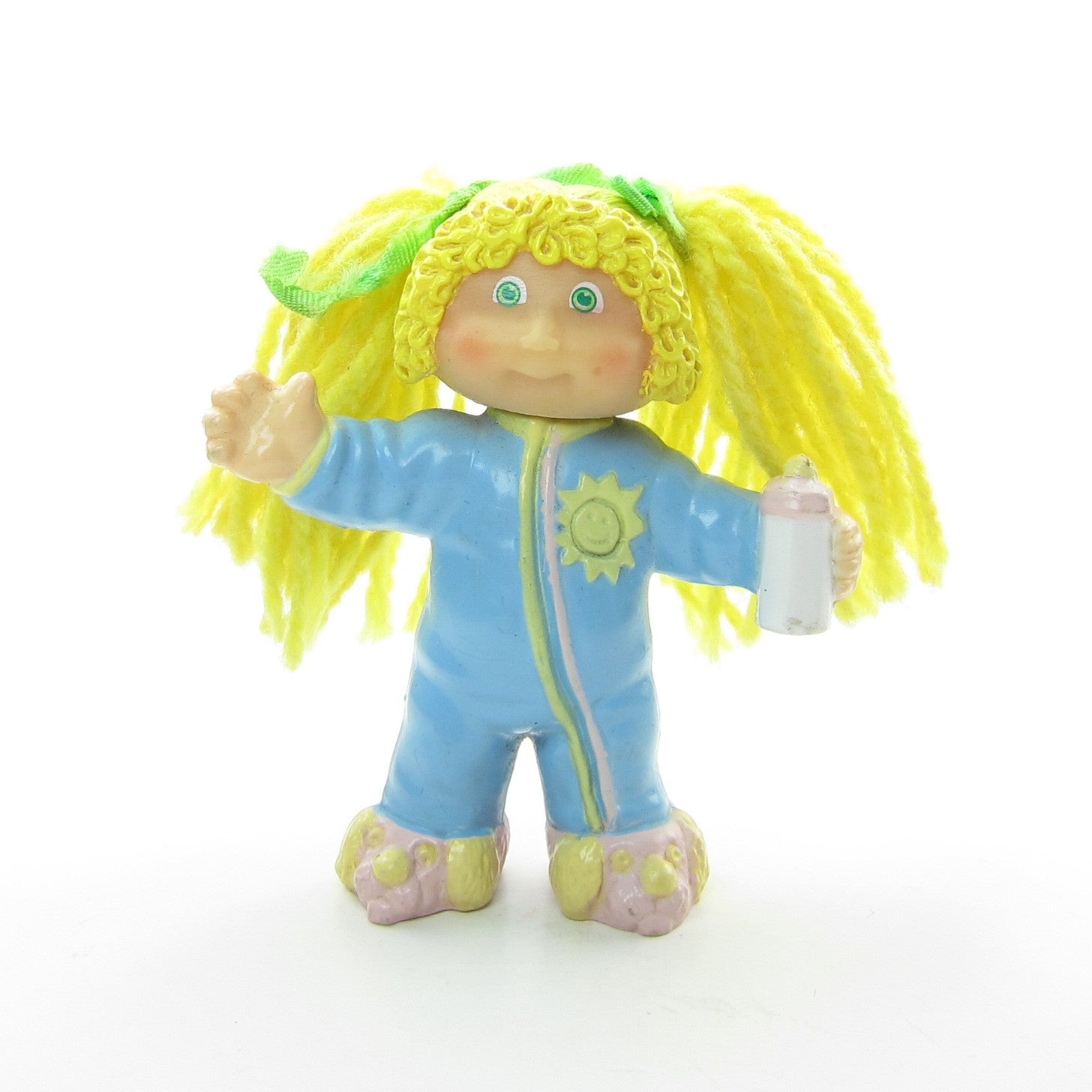 Cabbage Patch Kids PVC figure in pajamas with yarn hair