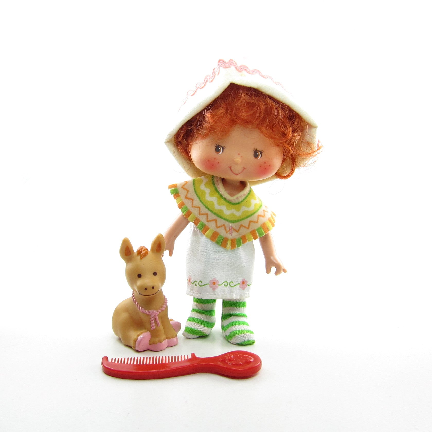 Cafe Ole doll with Burrito donkey pet and berry comb