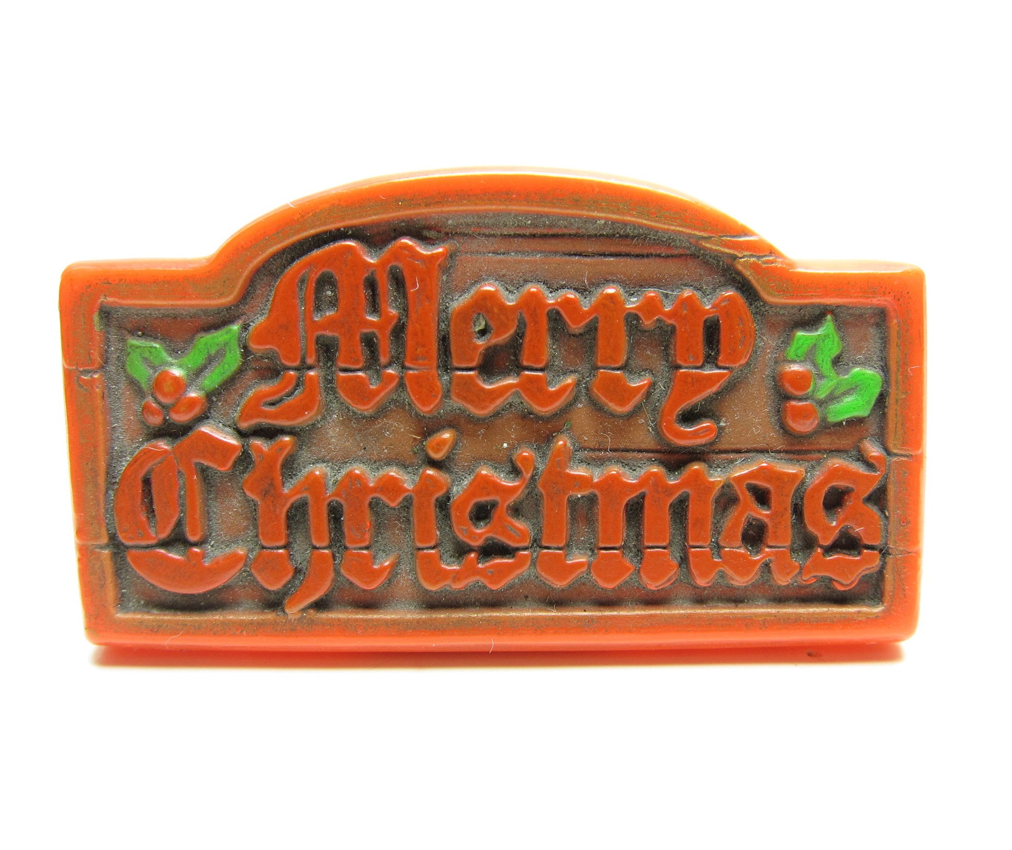Merry Christmas Pin Vintage Hallmark Sign Lapel | Brown Eyed Rose