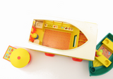 Fisher-Price Play Family camper truck with boat