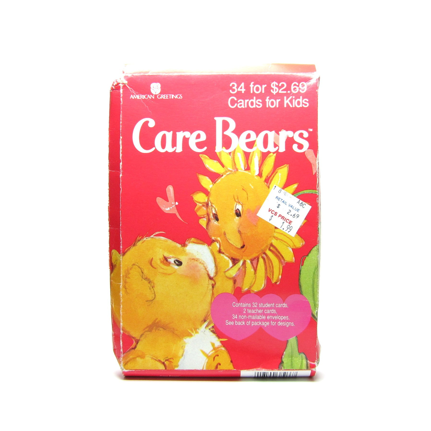 Care Bears vintage Valentine's Day cards