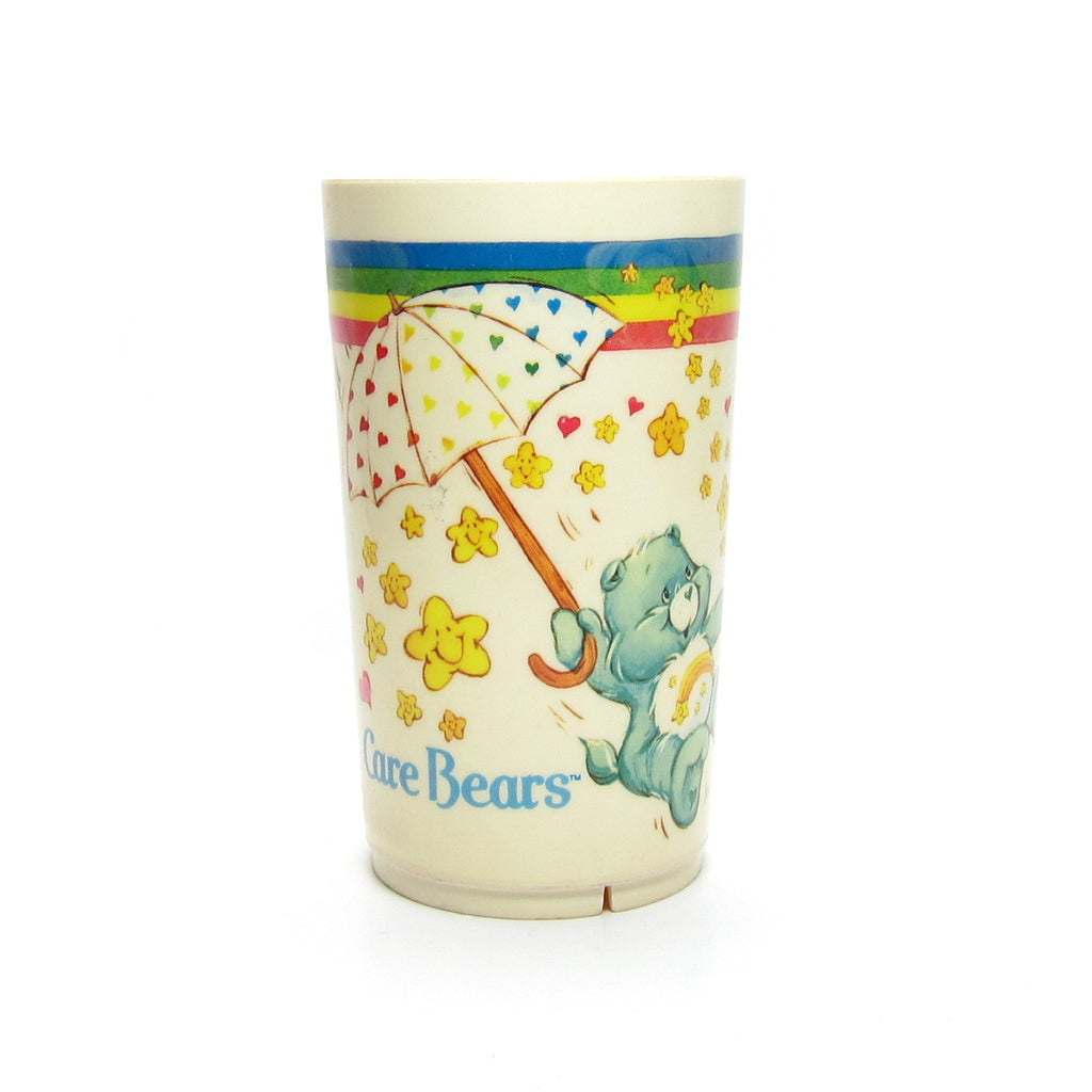 Care Bears Cup Plastic Deka Tumbler with Umbrella, Wish, Cheer and Funshine Bear