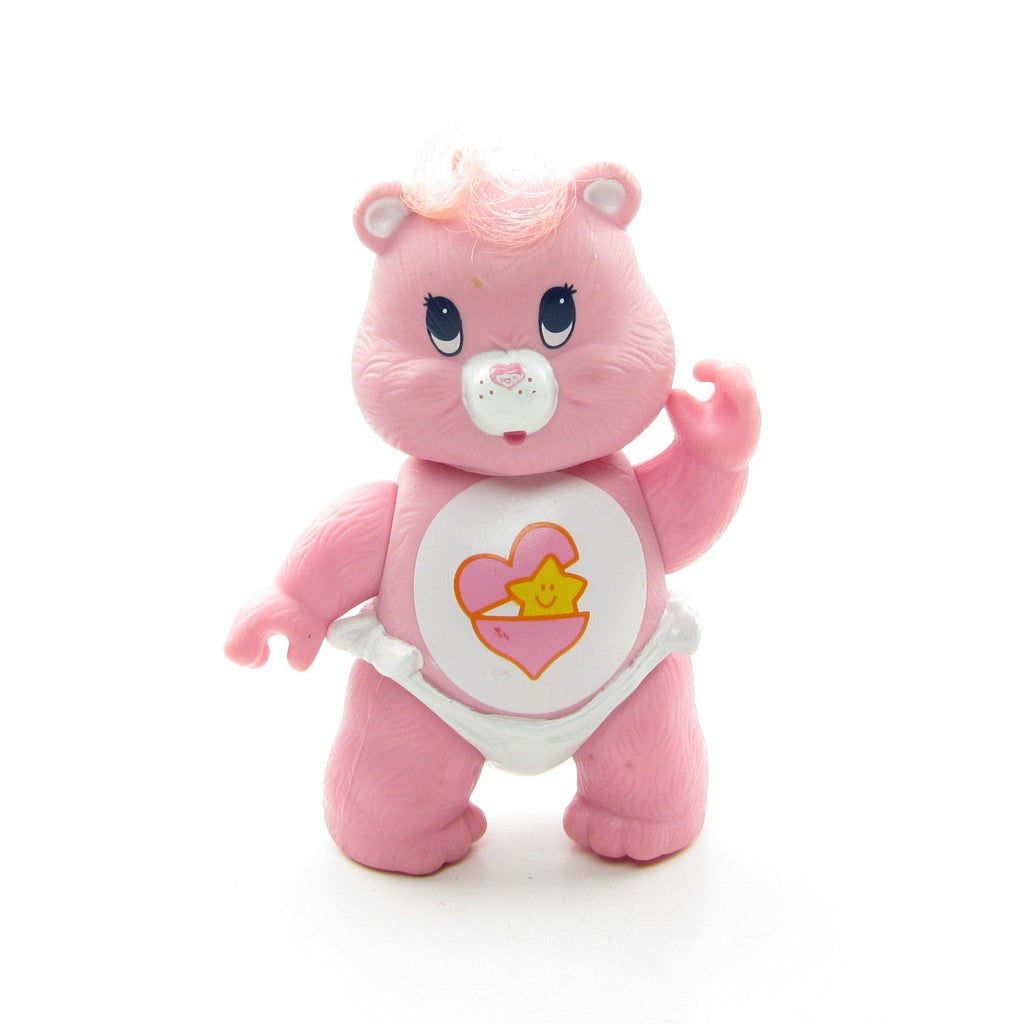Baby Hugs Bear Pink Vintage Care Bears Poseable 3-Inch Figure