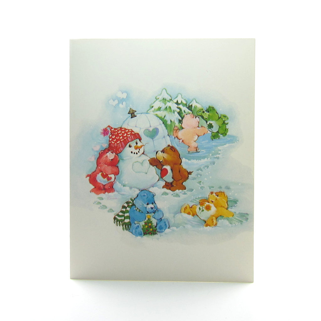 Care Bears Happy Holidays Greeting Card with Snowman & Igloo