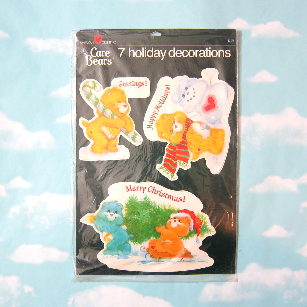 Care Bears Christmas Holiday Decorations Vintage 1983 Package