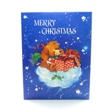 Merry Christmas Care Bears card with Tenderheart Bear