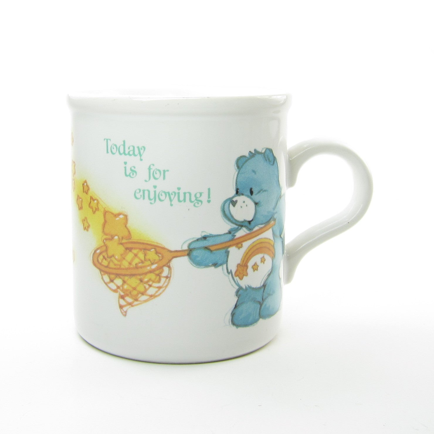 Care Bears Mug Wish Friend Bear Cup Today Is For Enjoying Brown Eyed Rose