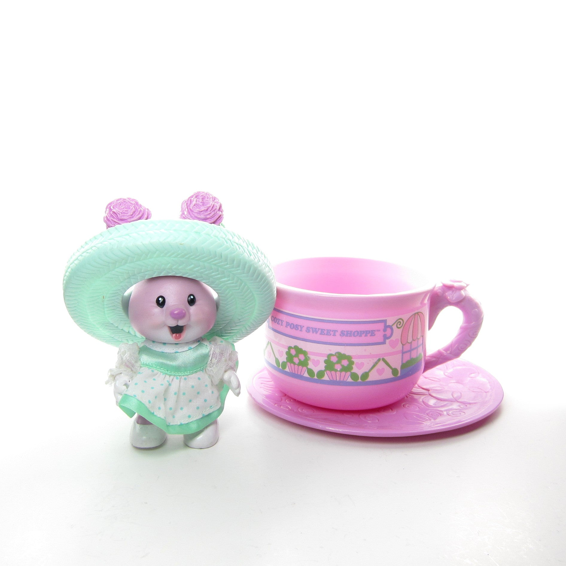 Carnation Mint & The Cozy Posy Sweet Shoppe Tea Bunnies toy