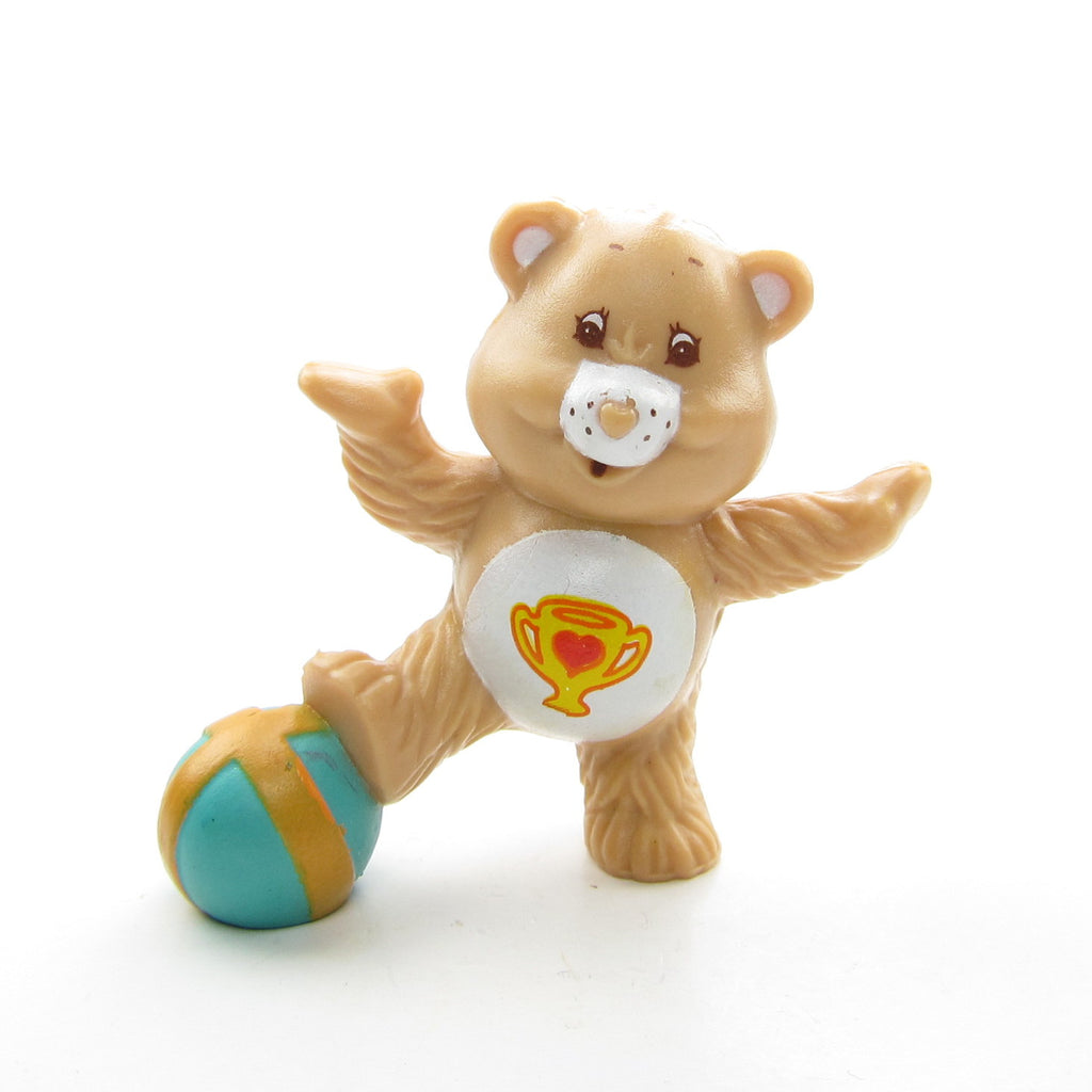 Champ Bear Celebrating a Win Care Bears Miniature Figurine