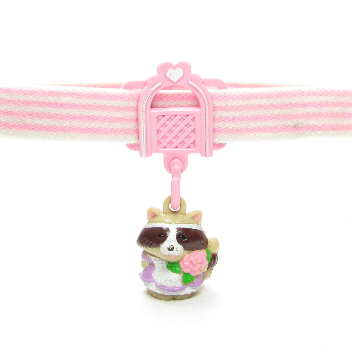 Rosie Raccoon Charmkins charm with elastic stocking garter