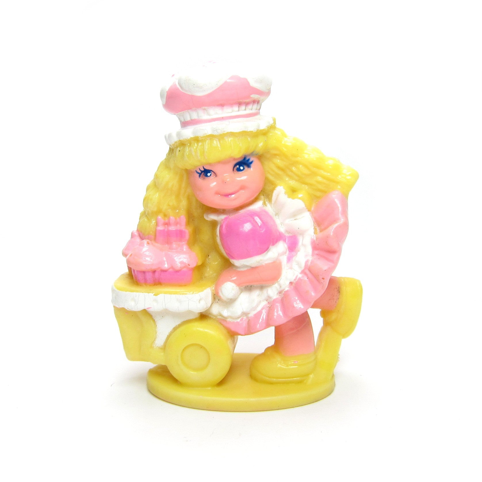 Cherry Merry Muffin miniature figurine with cupcake cart