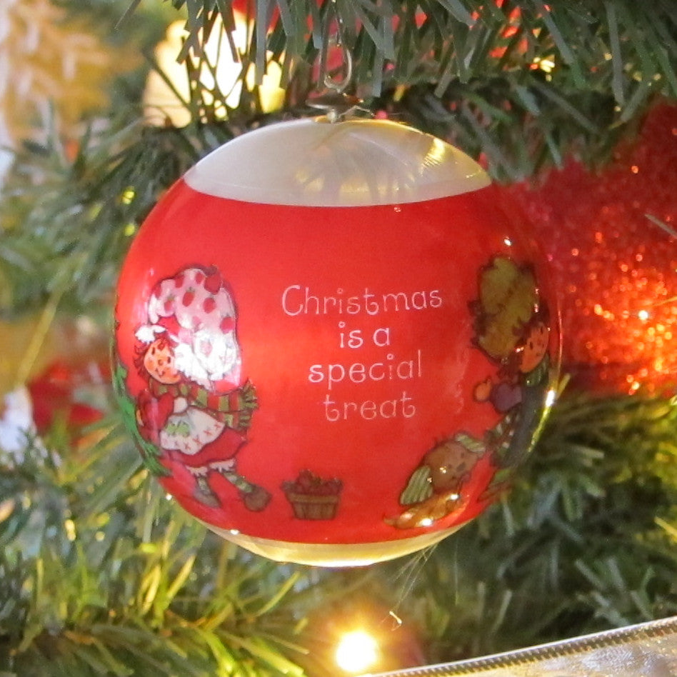 Christmas is a Special Treat Strawberry Shortcake Silk Ball Ornament