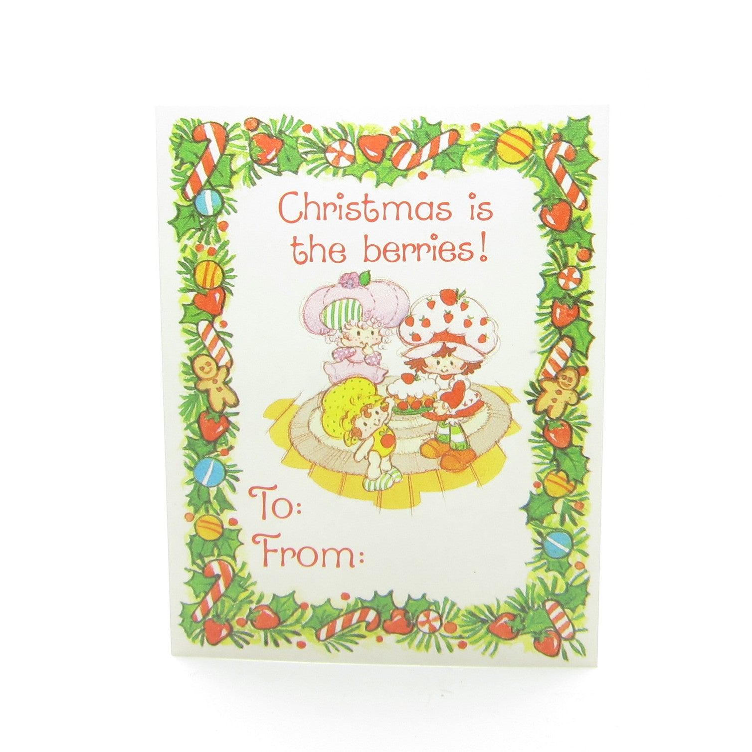 Christmas is the berries Strawberry Shortcake gift tag