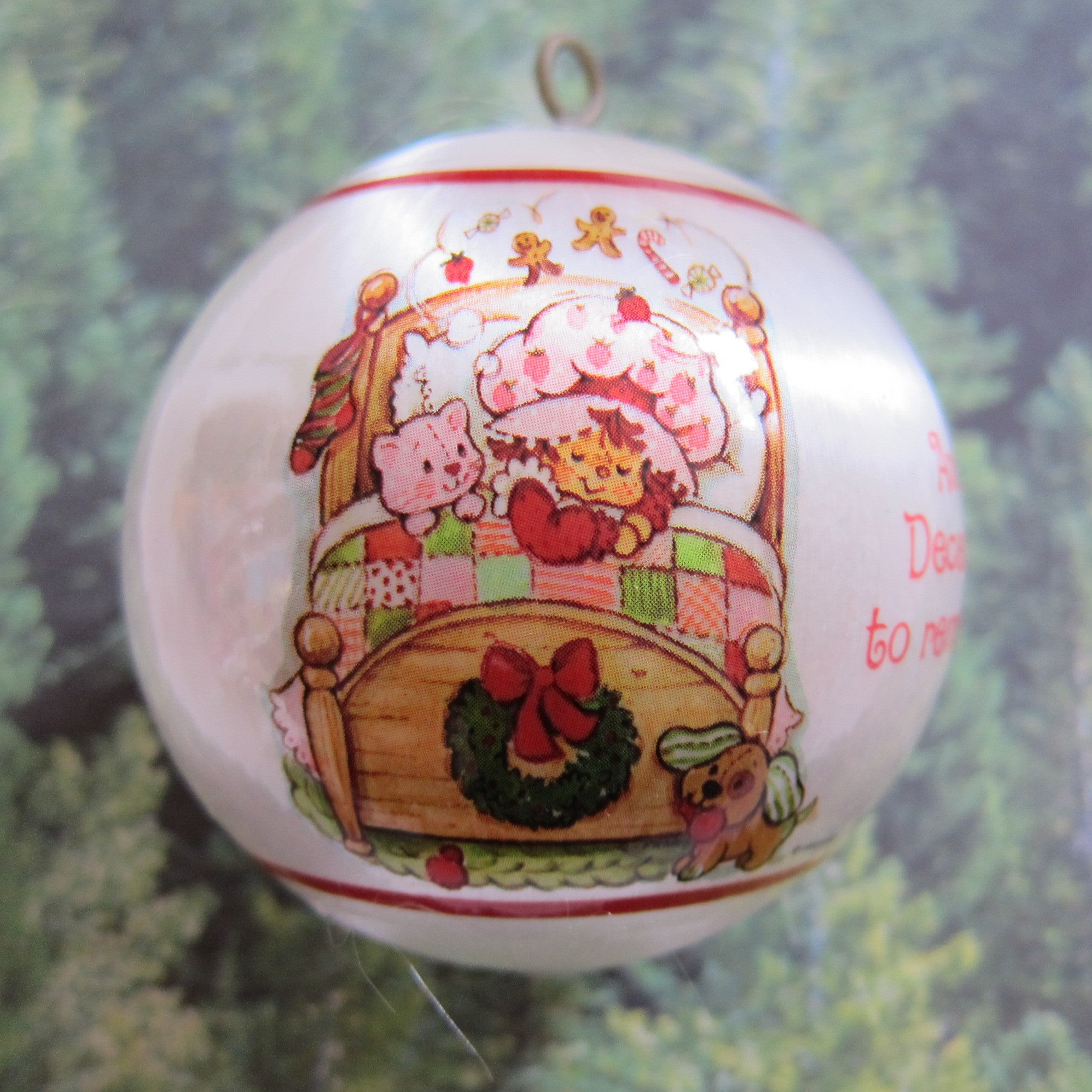 Warm Wishes For A Cozy Christmas Strawberry Shortcake Ornament