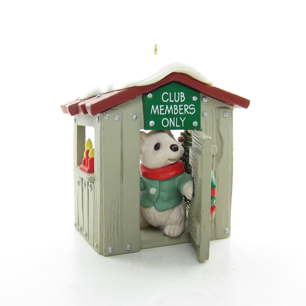 Our Clubhouse Vintage 1988 Hallmark Collector's Club Exclusive Ornament