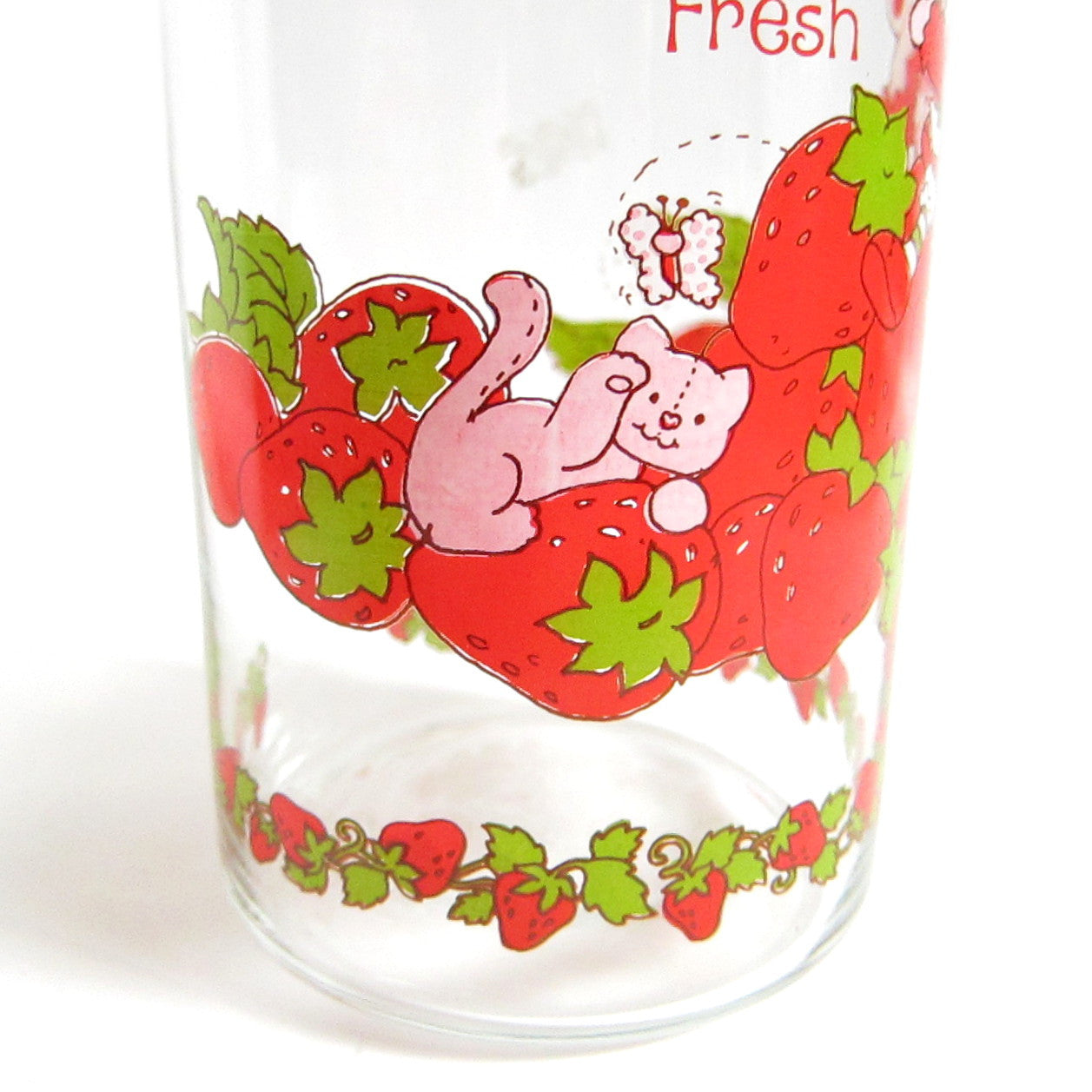 strawberry shortcake jar vintage kitchen canister with lid and