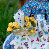 Doll basket for gathering flowers