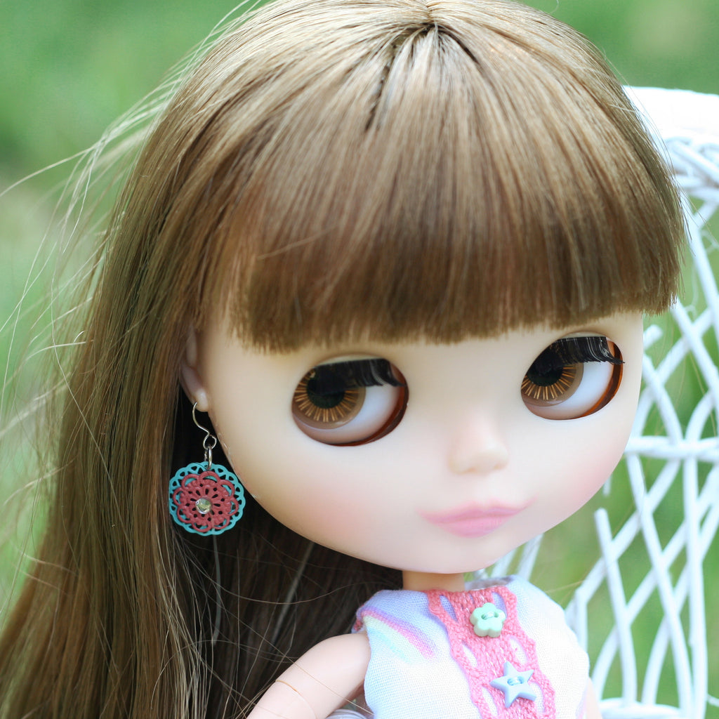 Filigree Dangle Earrings for Blythe or Pullip Dolls