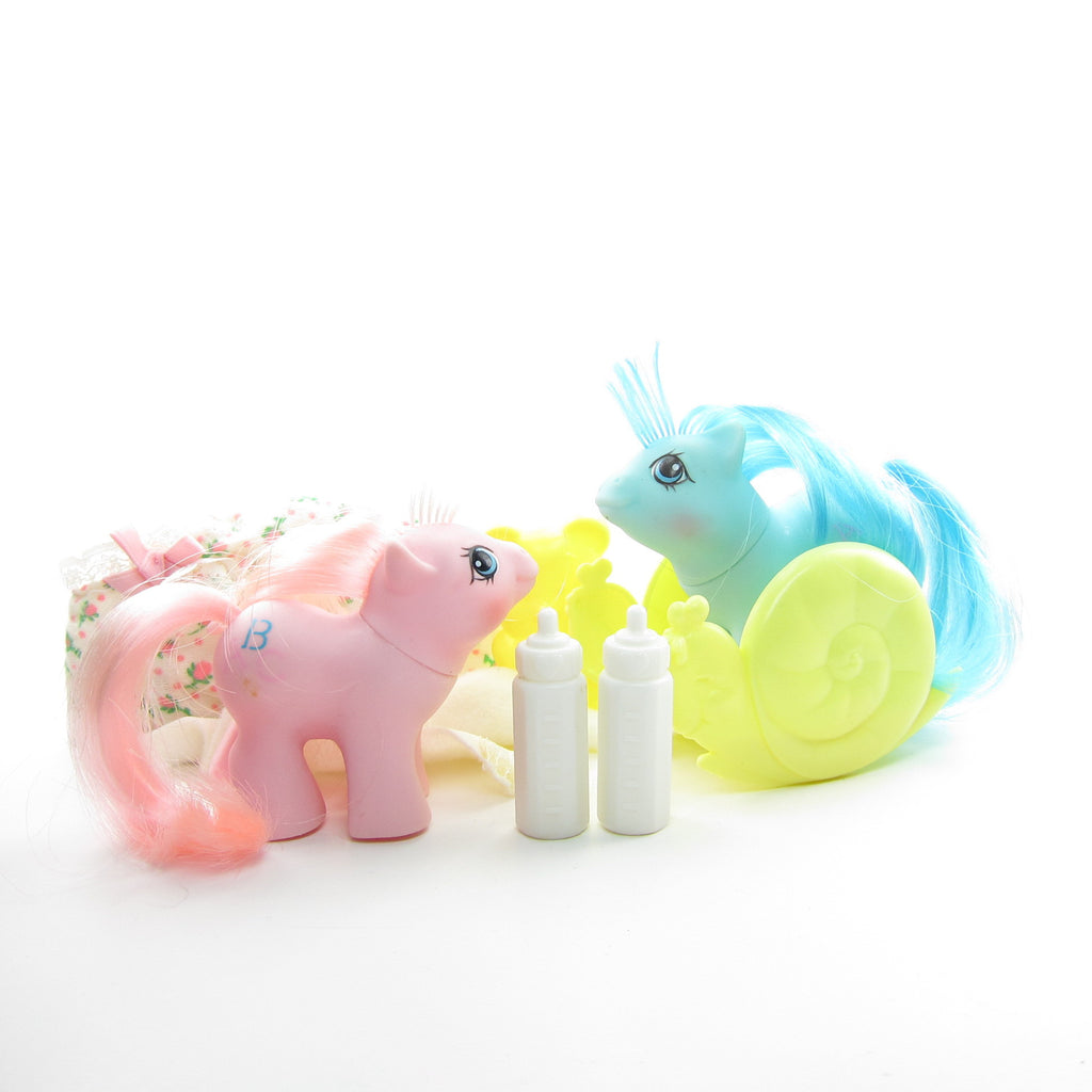 Doodles & Noodles Newborn Twins G1 My Little Pony Set with Accessories