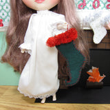 Felt elf shoe stocking for Blythe playscale dolls