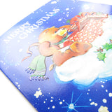 Embossed Care Bears greeting card