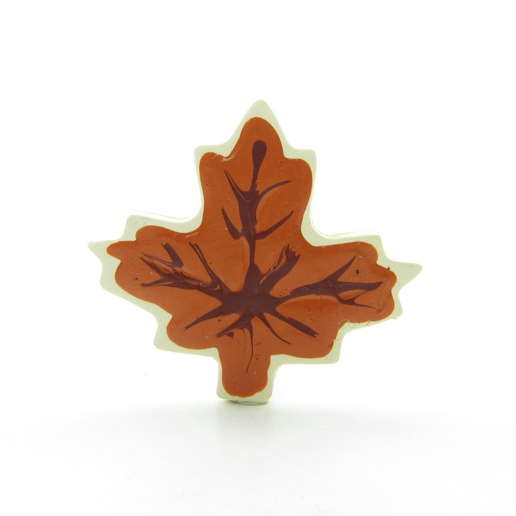 Fall Leaf Cookie Polymer Clay Brooch Pin
