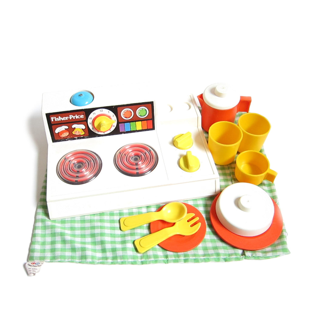 Kitchen Set with Magic Burner Stove Vintage 1978 Fisher-Price Toys
