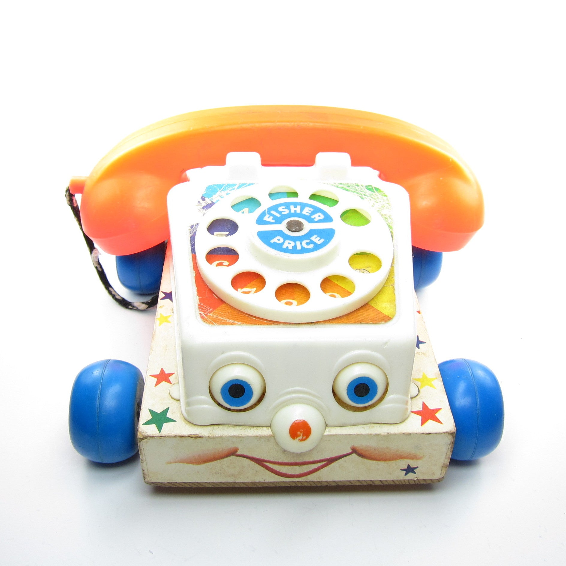 Chatter Telephone Toy Vintage 1961 Fisher Price Brown