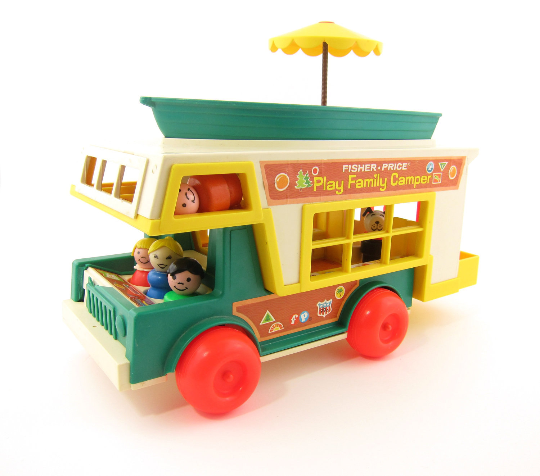 Play Family Camper with Fisher-Price Jeep, Boat, Little People and Furniture