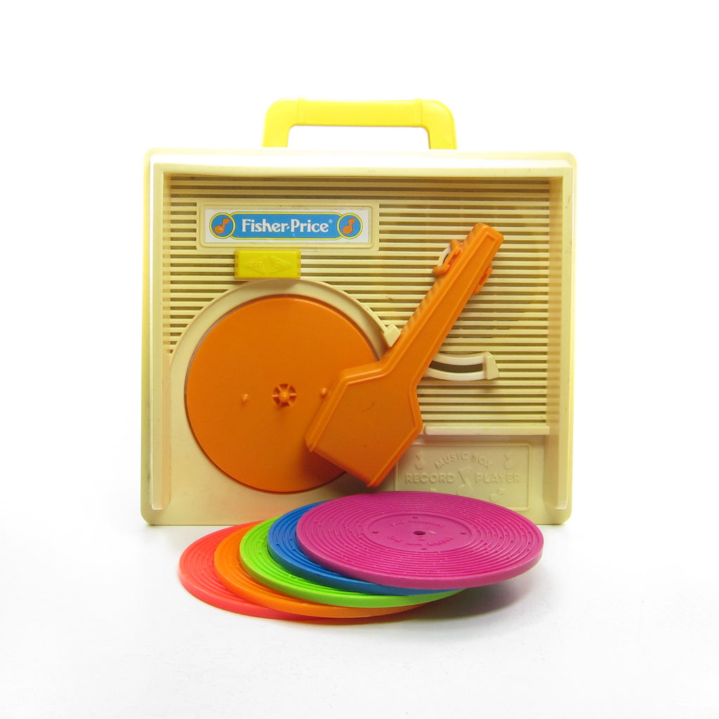 Record Player Toy 1987 Vintage Fisher-Price Wind-Up Music Box