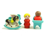 Rocking horse and high chair for Fisher-Price Little People