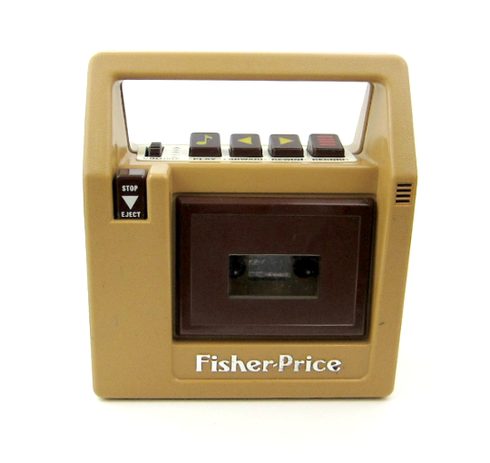 Fisher Price Portable 1980 Cassette Player and Tape Recorder