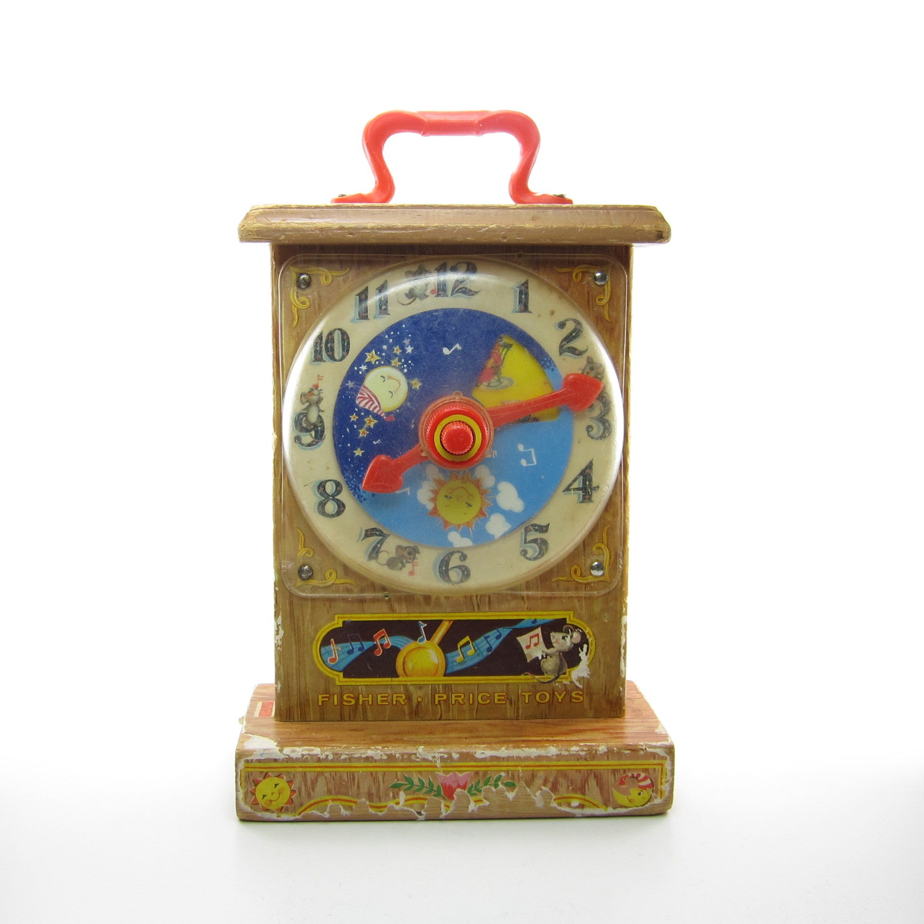 Fisher-Price Tick Tock teaching clock vintage 1964 toy