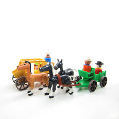 Fisher-Price Western Town accessories with horses and figures