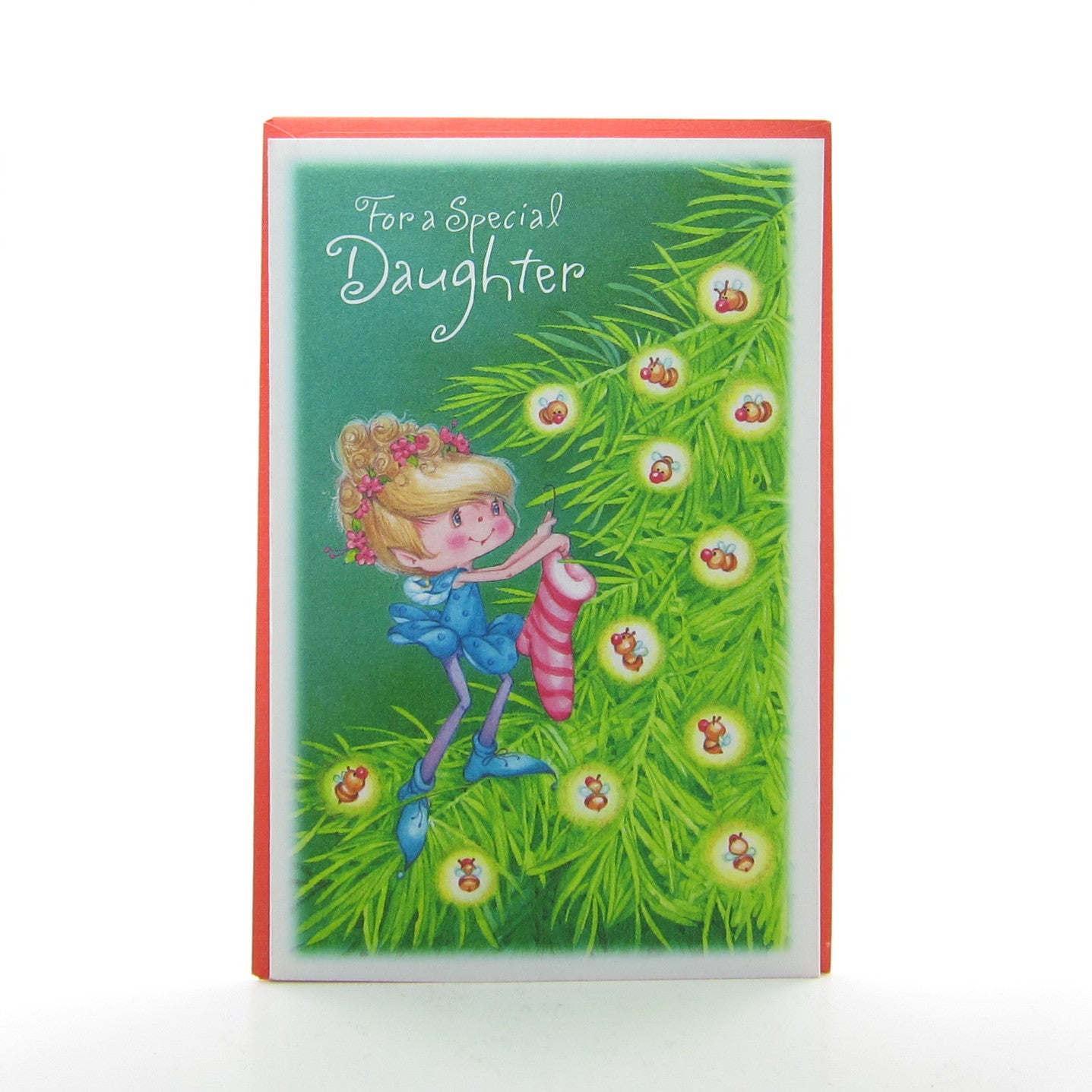 For a Special Daughter vintage Herself the Elf Christmas card