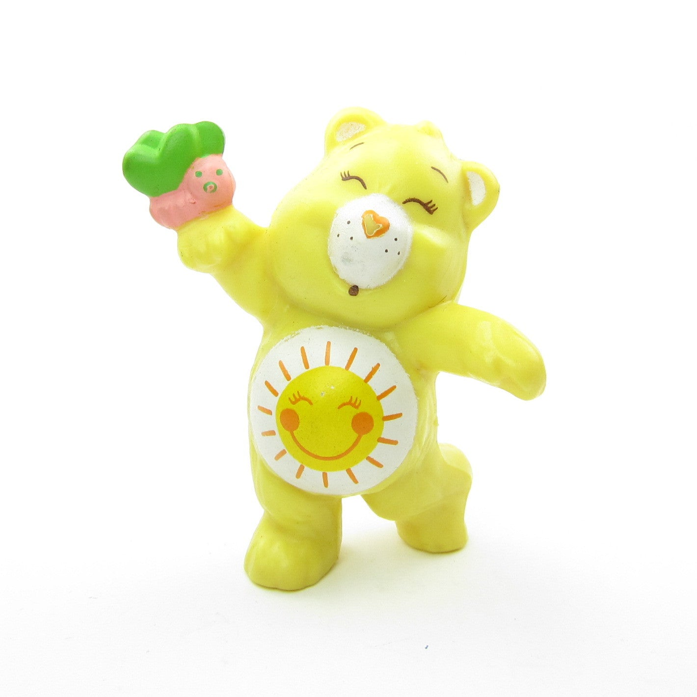 Care Bears Funshine Bear Dancing with a Colorful Butterfly