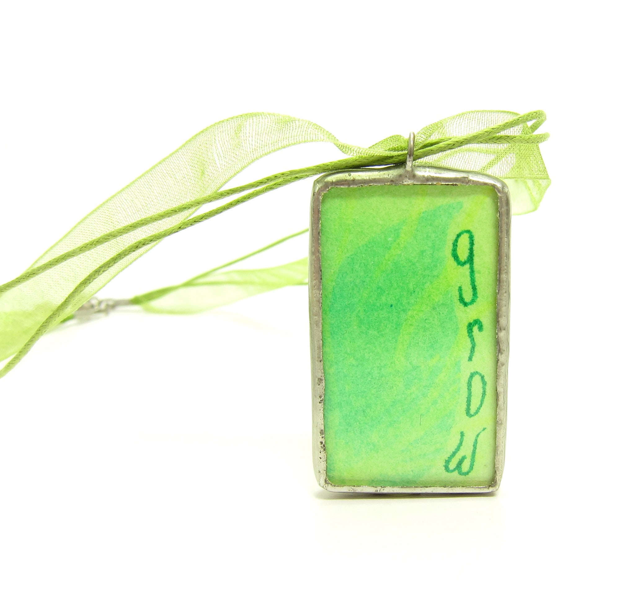 Green Grow Soldered Pendant Necklace