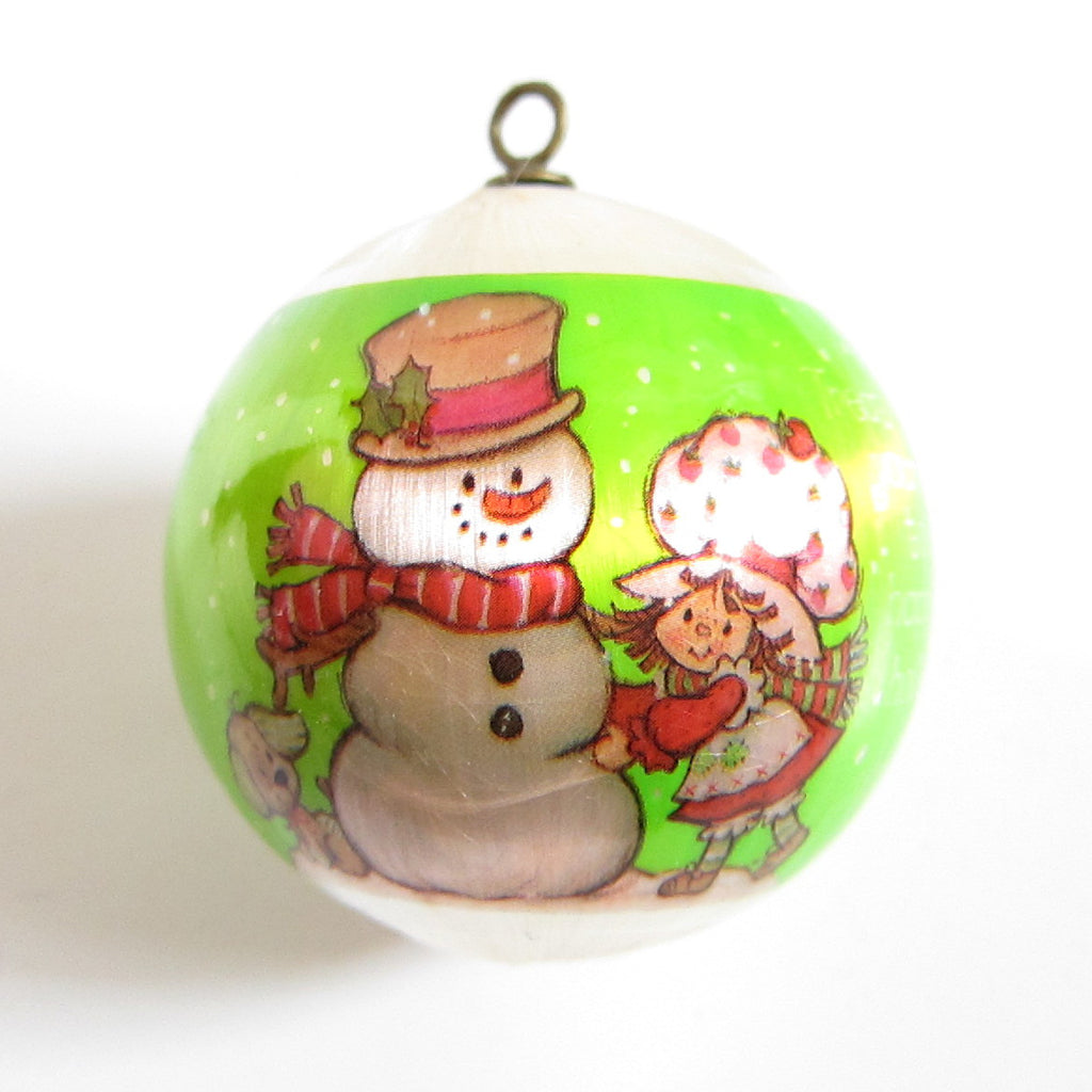 Treat Yourself To A Happy Holiday 1982 Strawberry Shortcake Silk Ball  Ornament