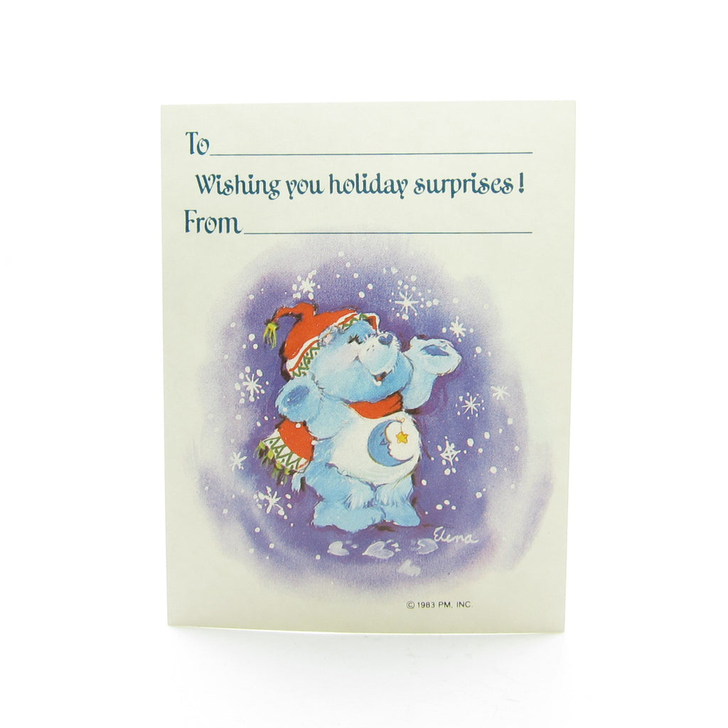 Bedtime Bear Gift Tag Care Bears Christmas Present Label