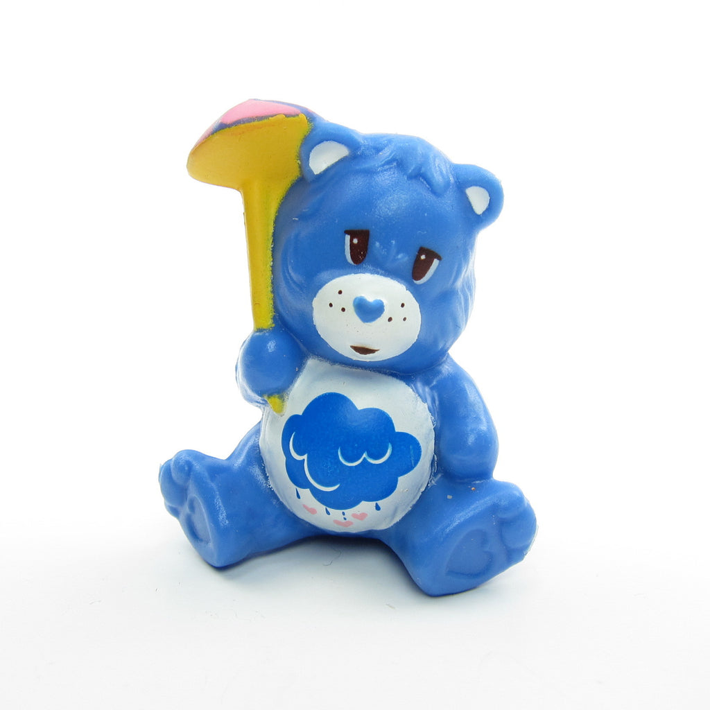 Grumpy Bear Trying Not to Get Wet Care Bears Miniature Figurine