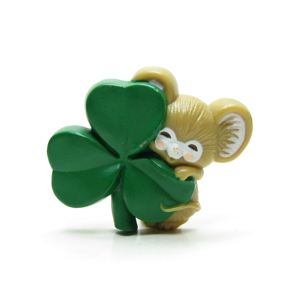 Mouse with Shamrock Pin St. Patrick's Day Vintage Hallmark Lapel