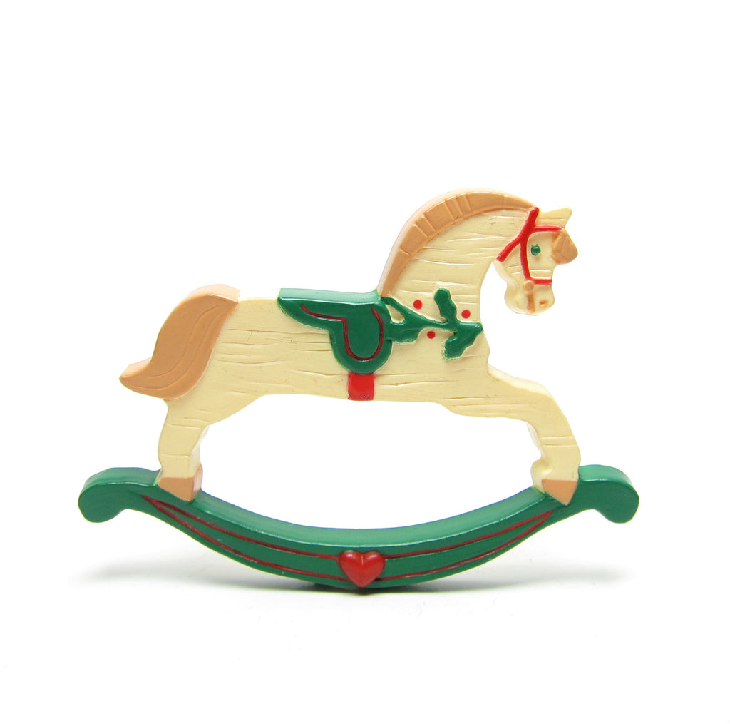 Rocking Horse Pin Vintage 1989 Hallmark Christmas Lapel