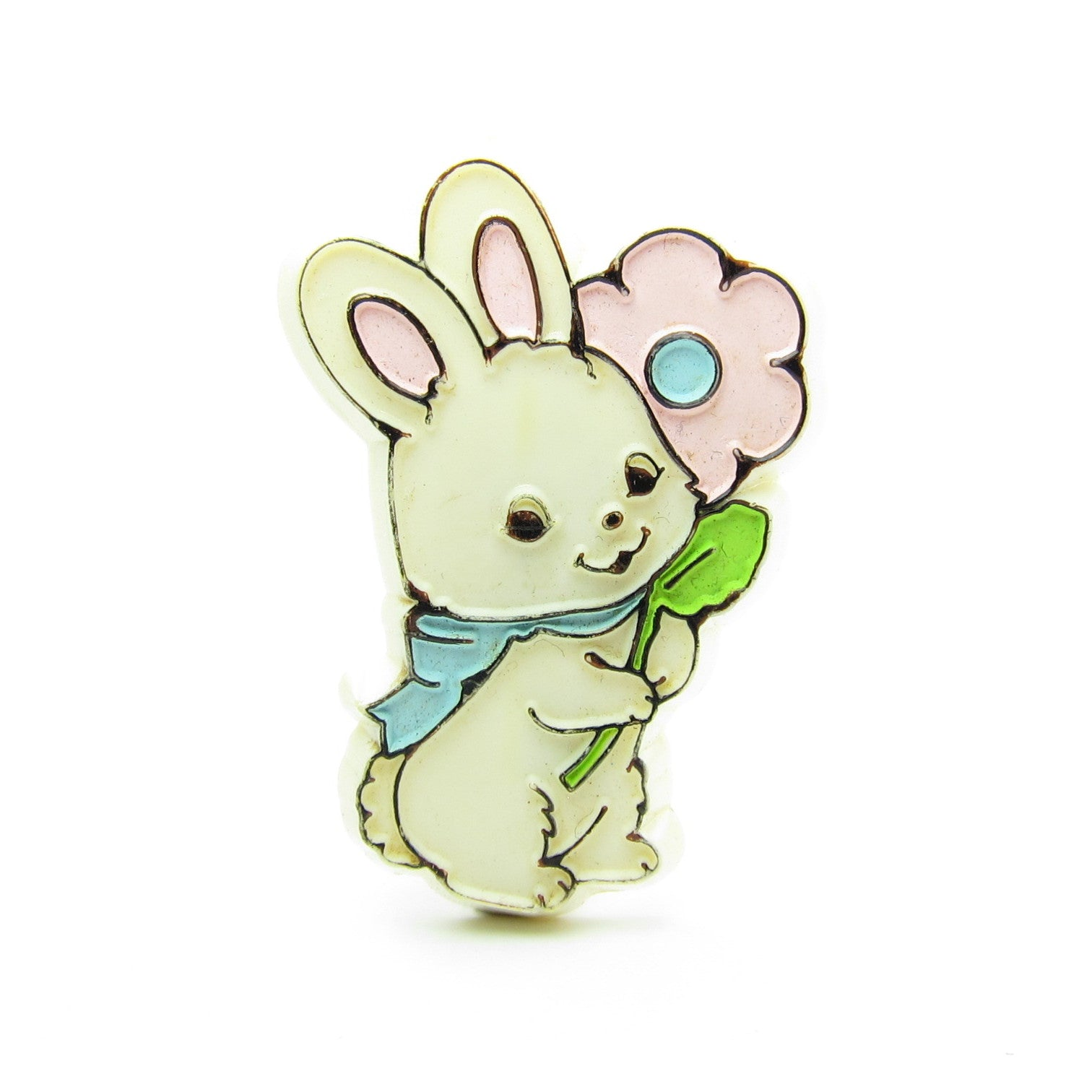 Hallmark bunny pin with pink flower