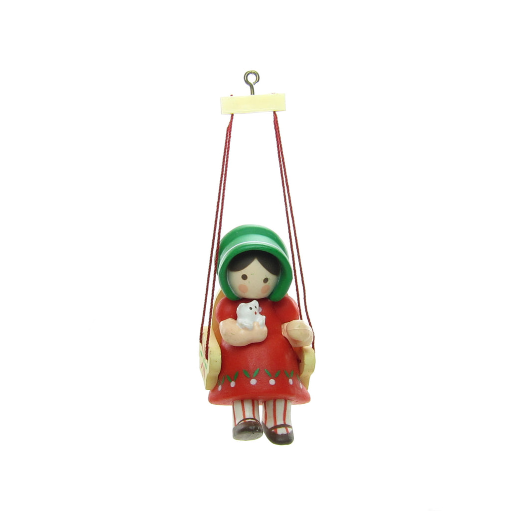 Christmas is for Children Hallmark Ornament Girl Sitting in Swing