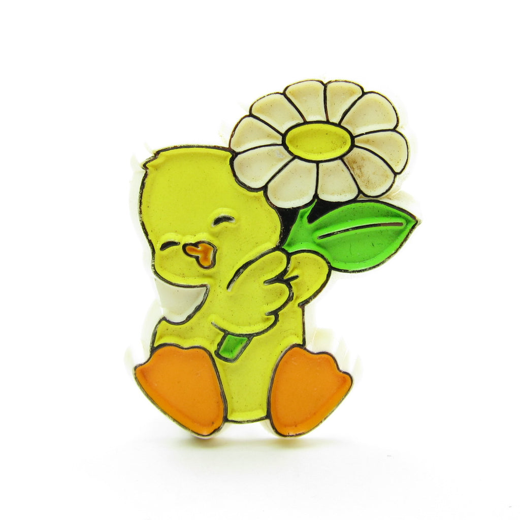 Duck with Flower Pin Vintage Hallmark Easter Lapel